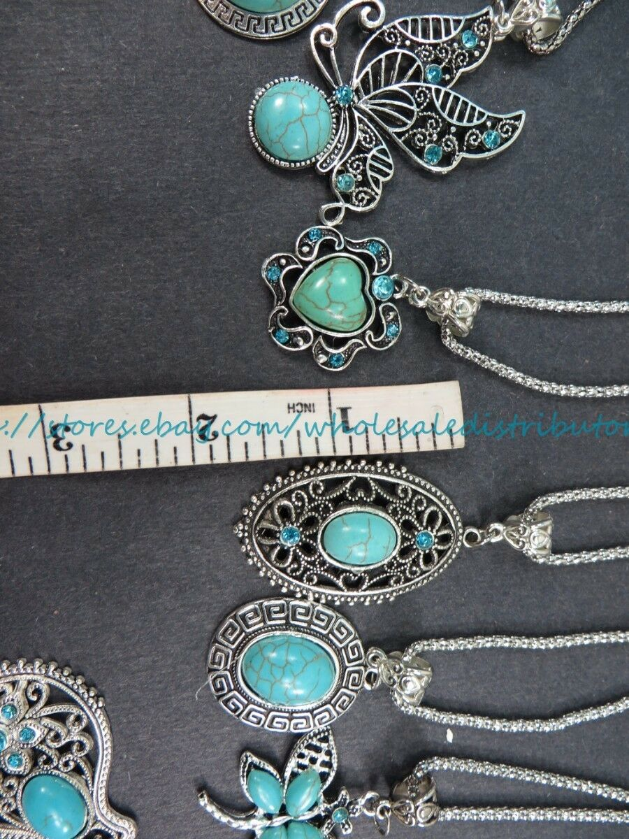 US SELLER  10 pieces retro vintage wholesale lot turquoise jewelry pendant