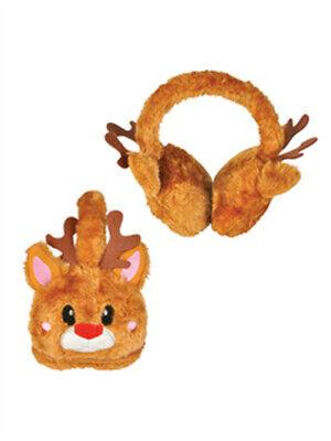 Christmas Brown Reindeer Rudolf Ear Muffs](Christmas Ear Muffs)