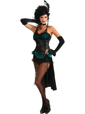 Wild West Saloon Costumes (Wild West Saloon Burlesque Showgirl Turquoise Womens Costume Standard)