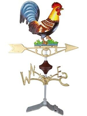 Cockerel Chicken Hen Ridge Mount - Cast Iron Weathervane