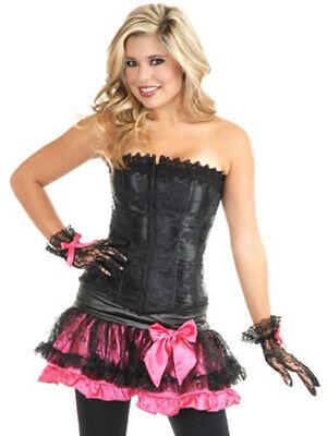 Womens Sexy Pirate Cowgirl Dominatrix Black Lace Corset](Dominatrix Costume)