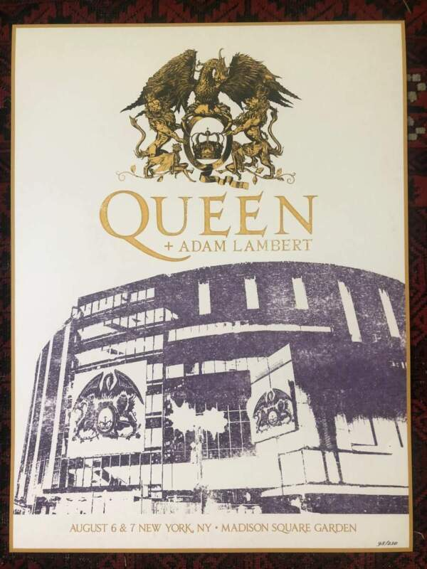 QUEEN RARE POSTER MADISON SQUARE GARDEN  MSG BOHEMIAN RHAPSODY POSTER ONLY 350