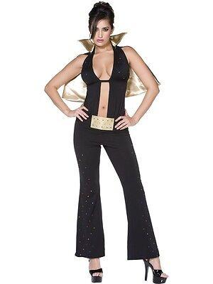 Halloween Celebration Las Vegas (Elvis Presley Women's Costume Las Vegas Fancy Dress Fasching Carnival)