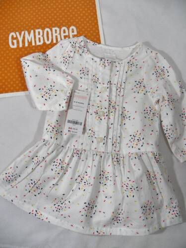 ~Gymboree~ Girls Size 6 12 Months TINY PANDA Ivory Scatter P