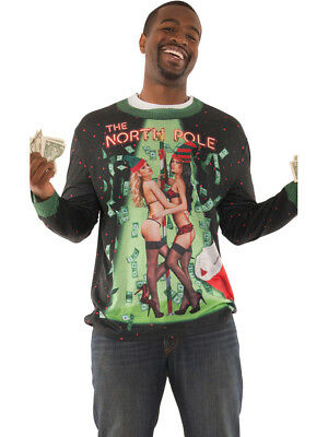 Adult's Funny Faux Ugly Christmas Sweater The North Pole Shirt - Mens Funny Costumes