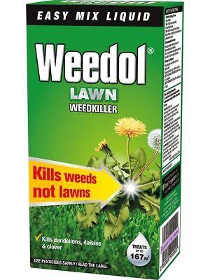 Weedol Liquid Concentrate Garden Lawn Weedkiller 250ml Kills Weeds Not Lawn