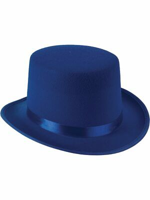 New Deluxe Blue Magician Formal Costume Felt Top Hat](Blue Top Hat)
