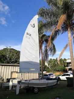 14 ft Calypso Catamaran with Trailer - Good Condition