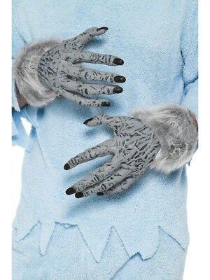 Grau Werwolf Hände Erwachsene Wolf Handschuhe Halloween Kostüm Zubehör ()