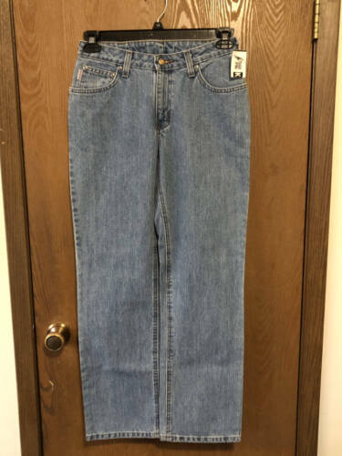 NWT Carhartt for Women relaxed straight leg med. wash jeans