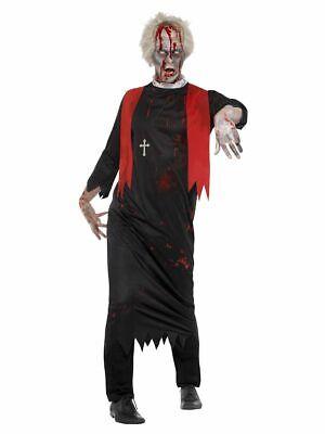 Hohe Priester Pastor Zombiekostüm Karneval Herren Kostüm  (Zombie Priester Kostüm)