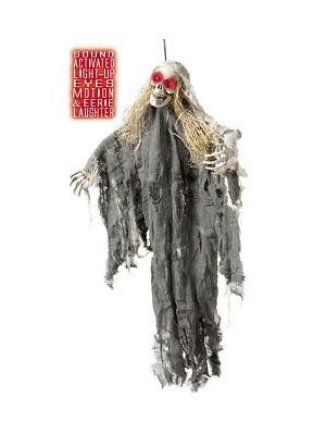 90cm Skelett Geist LED Augen und Geräusch Halloween