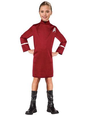 Child's Girls Star Trek Communications Officer Uhura Dress - Kids Star Trek Costume