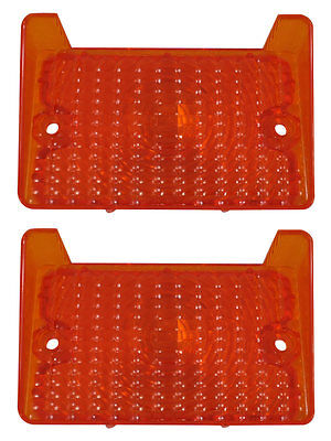 1971 1972 Nova Chevy II Parking Light Lens with Gaskets Pair Amber