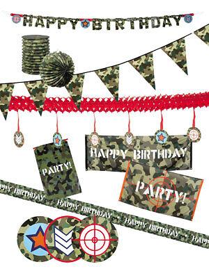 Party Dekoration Army