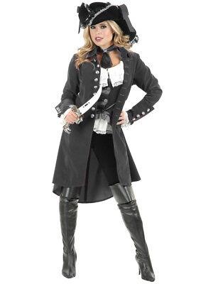 Womens Pirate Lady Vixen Jacket Gun Metal Grey