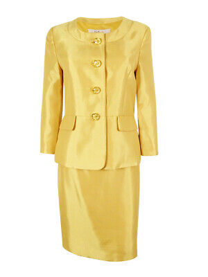 Le Suit Women's Monte Carlo Faux Pocket Skirt Suit