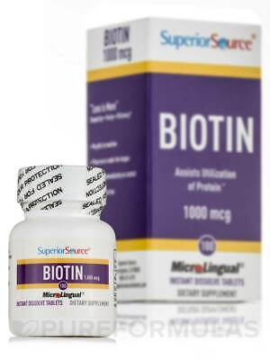 Biotin 1000 mcg - 100 Dissolvable Tablets by Superior (Biotin 1000 Mcg 100 Tablets)