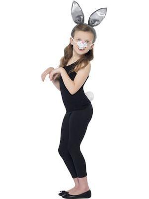 SMI - Kostüm Zubehör Hase Ohren Nase Schwanz Karneval Fasching  (Hase Ohren Schwanz Kostüm)