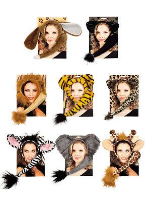 Set Ohren und Schwanz Accessoires Kostüm Tier (Ohren Und Schwanz Kostüm)