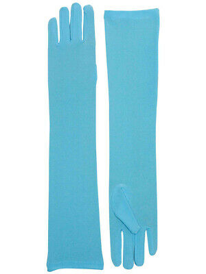 Adult Blue Opera Super Hero Costume Formal Elbow Length Long Dress Gloves](Witches Glove)