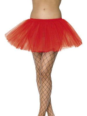 Rot Petticoat Tutu Kurz 30cm Unterrock Damen Sexy Kostüm (Petticoat Sexy Kostüm Zubehör)