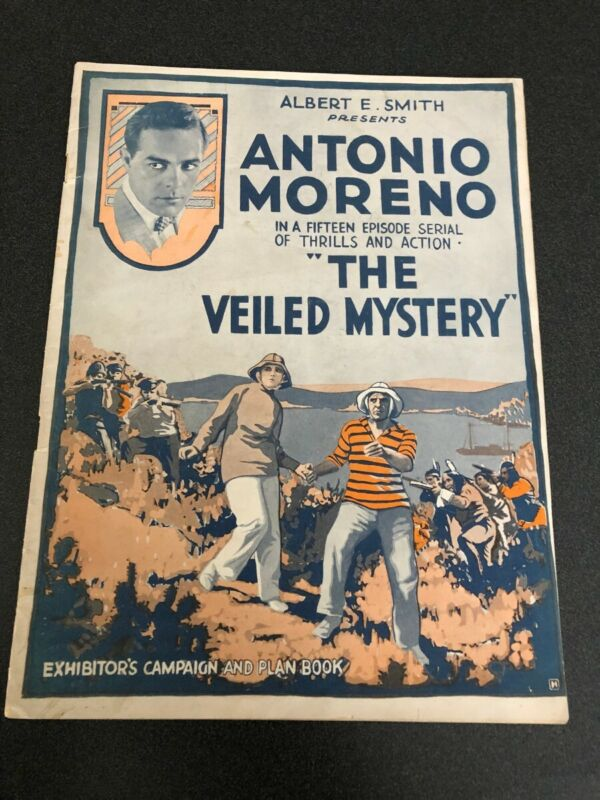 1920 THE VEILED MYSTERY UNCUT PRESSBOOK ANTONIO MORENO VITAGRAPH SERIAL