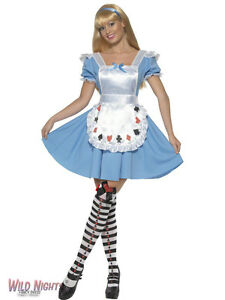 FANCY-DRESS-COSTUME-ALICE-IN-WONDERLAND-DECK-OF-CARDS-GIRL-MED-12-14