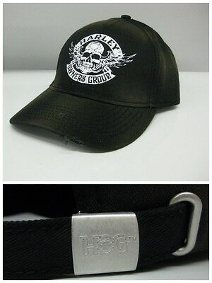 Harley Owners Group  Hog  Skull Baseball Hat  Ships International