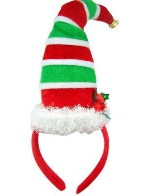 Santa's Elfen Mistletoe Christmashut mit Glocke Urlaub Party Stirnband ()