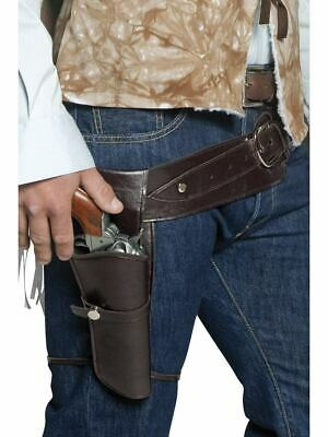 Smiffys Western Wandering Gunman Belt Holster Halloween Costume Accessory 33097 (Western Gun Holsters Halloween)