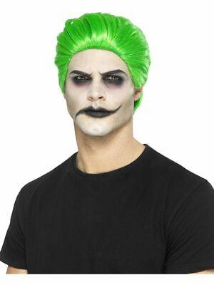 Peluca Hombre Corta Verde Accesorios Carnaval Ps 17996