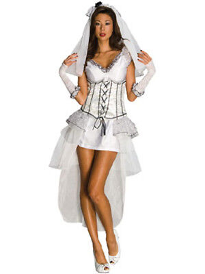Women's Sexy Adult Gothic Mistress Bride Costume