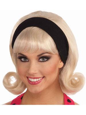 50s Doo Wop Costume Blonde Sock Hop Flip Wig