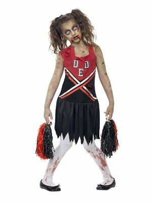Smiffys Zombie Cheerleader Horror Highschool Kinder Mädchen Halloween Kostüm
