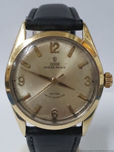 Rolex Tudor Oyster Prince 7963 Gold Cap Automatic Mens Watch