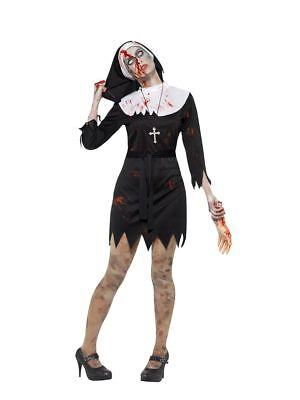 Women's The Nun Scary Adult Fancy Dress Costume Halloween Movie Hen Night Fun