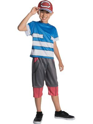 Boys Pokemon Master Trainer Ash Ketchum Costume - Pokemon Ash Costume