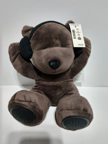 NEW~ Aeropostale DJ TEDDY BEAR Portable Speaker ~ Plush Toy Animal ~ 3.5mm audio