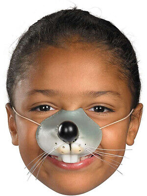 Rat Mask (Child Rubber Costume Accessory Mouse Rat Zoo Animal Nose Elastic Band)