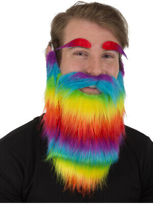 Rainbow Beard and Eyebrows Costume Accessory (Costume Eyebrows)