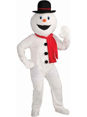 Mens 42-44 Frozen Christmas Snowman Snow Man Parade School Plush Mascot Costume - Frozen Mens Costume