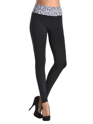 NWT-High-Waisted, Super Soft, Comfy, Two Tone, Free Size Leggings by Sofra Comfy Footless Leggings