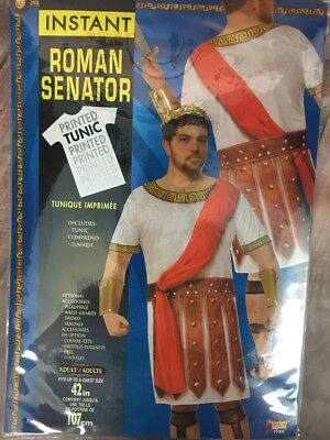 Roman Senator Adult Printed Costume Standard Size NEW Toga (Senator Roman)