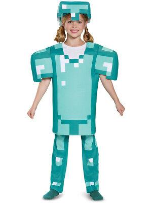 Minecraft Kid Costumes (Childs Boy's Deluxe Minecraft Armor Mine Craft Mojang Costume Small)