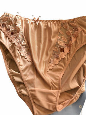 WARNERS vintage silky nylon slippery knickers sheer panels UK 12/14