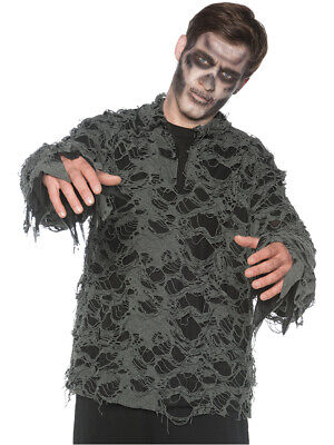 Men's Tattered Undead Zombie Costume Shirt Large 42-46 - Zombie Costume For Men