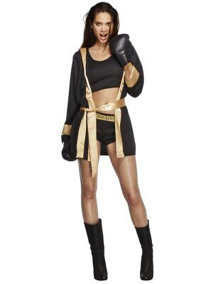 Fever Knockout Boxer Boxing Gloves Fighting Adult Womens Halloween Costume 31126 - Woman Boxer Costume