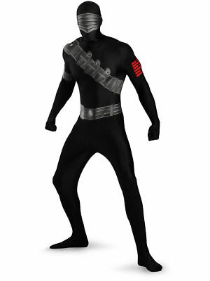 GI JOE Snake Eyes Skinovations Full Bodysuit XL Child Halloween Costume - R8 - Kids Gi Joe Costumes