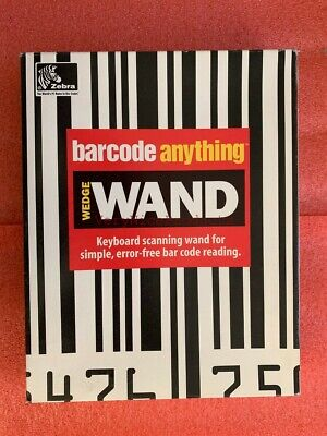 Zebra Handheld Barcode Anything Scanner Scanning Wedge Wand Labeling Software